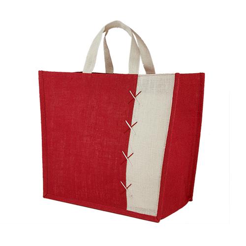 BOLSA ALMEZ (Bolsa con fuelle.)Material: Yute, Medidas: 35 x 32.5 x 20 cm
