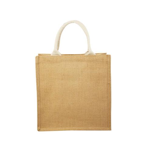 BOLSA SPRING(Interior plastificado.), Material: yute, medidas: 52 x 35.5 x 13 cm