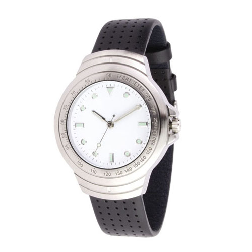 Reloj de pulso con caja metalica con numeros grabados , correa de piel italiana, maquinaria metalica japonesa de alta precision y estuche individual metalico. Medidas 24 x  3 cm