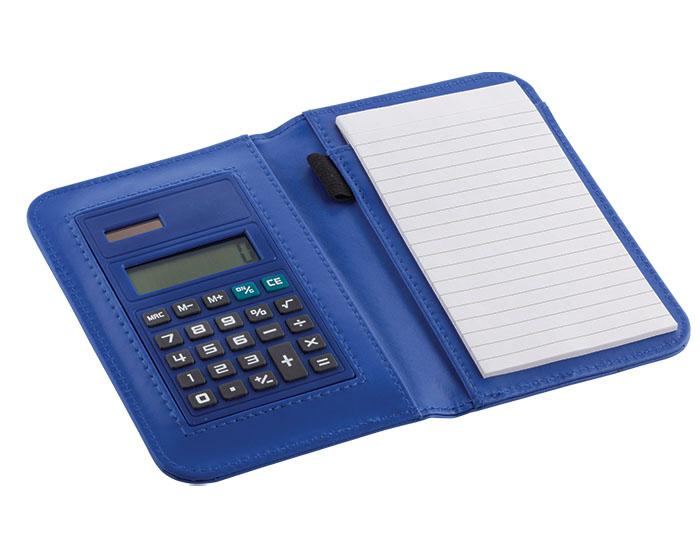 Portanotas Sampdoria, con calculadora de sistema dual. Bateria incluida. Medidas 16.5 x 11.5 x 2cm