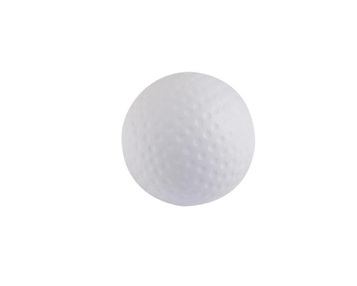Anti-estres Golf, es una figura de poliuretano en forma de pelota de golf. Diametro : 6.3