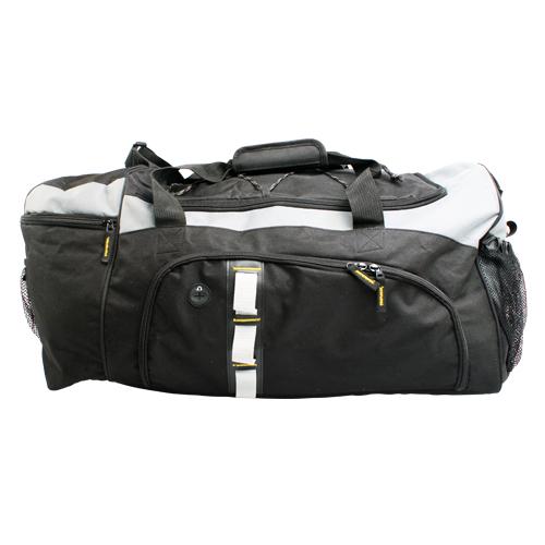 Maleta deportiva Xtreme, con bolsa frontal y otra lateral. Medidas 29 x 51 cm