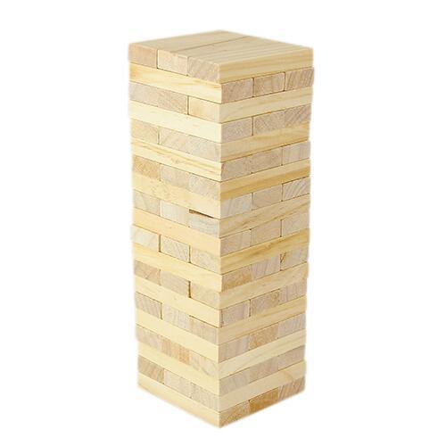TORRE DE BLOQUES ZINDER (Incluye 60 piezas de madera.) Medidas:  7 x 2.3 cm Ficha