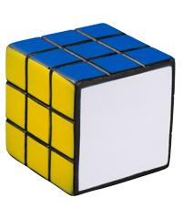 cubo magico antiestres de colores cada cara un color hule-poliuretano