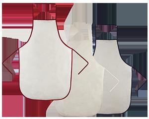 Mandil para cocina de tela tipo �Manta� con resaltes de bies en tres colores. No puede faltar al momento de cocinar. Algodon 52 x 78 cm