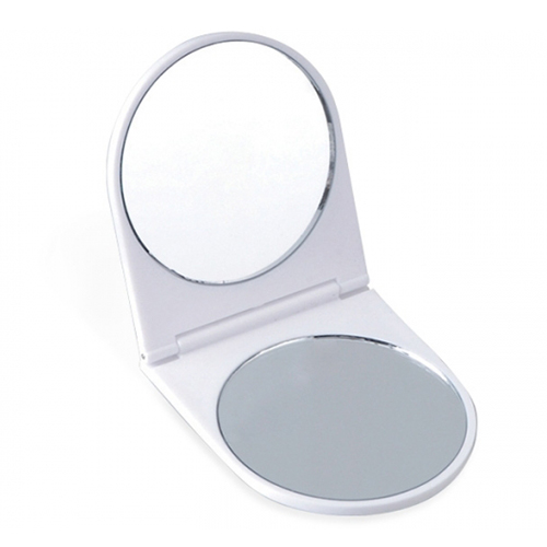 ESTUCHE C/2ESPEJOS BASIC  Plastico 6.6 x 6.1 cm Estuche circular con dos espejos, uno con aumento.