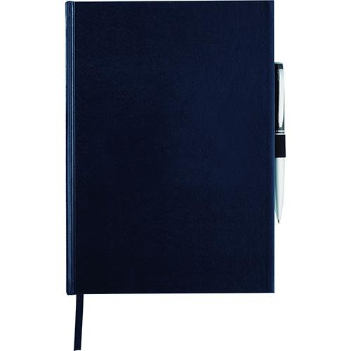 Libreta Ejecutiva Journal Book con arillo para boligrafo, elastico. Separador de listo . Incluye 72 hojas de papel. No incluye boligrafo. Medidas 17.8 x 25.4 x 2.5 cm