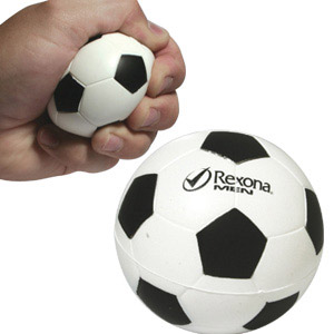 Stress ball soccer.