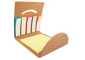 Kit de notas Turin, incluye 6 blocks adhesivos, 5 son tipo banderita. Medidas 8 x 8.5 cm