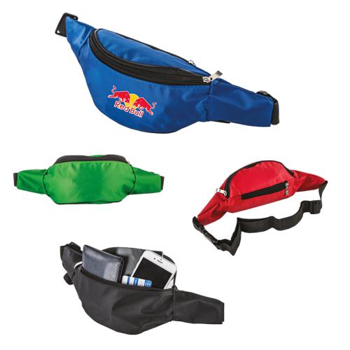 Cangurera de poli�ster con dos compartimentos, cinta ajustable a la cintura y seguro de presi�n Material Poli�ster Medidas 98 cm