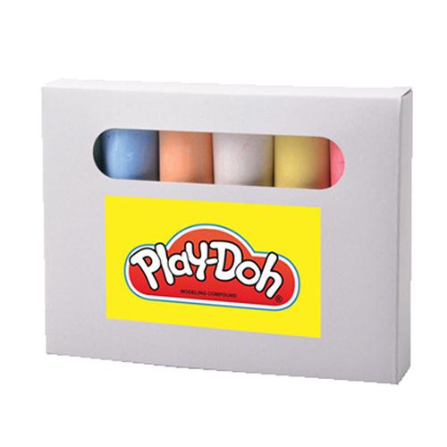 JUEGO 6 GISES GIGANTES Carton/Gis  14.2 x 10.5 x 2.3 cm  Juego de 6 gises gigantes de colores en caja de carton blanca. No toxicos