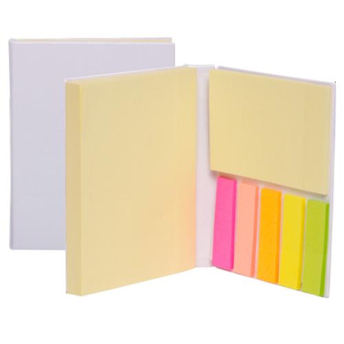 Bloc de notas auto-adhesivas (bloc 100 hojas / 5 colores de hojas marcadoras con 25 piezas cada uno).