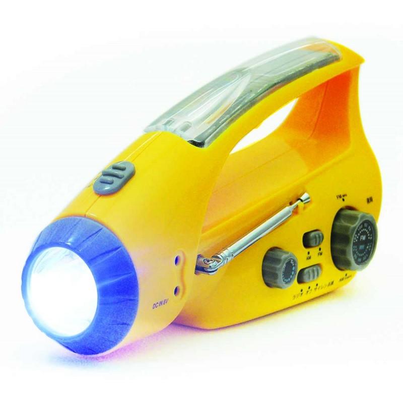 L�mpara - radio con cargador manuual para celular