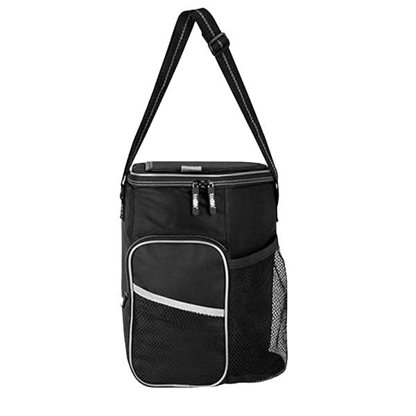 HIELERA ORGORO (Interior plastificado impermeable. Incluye bolsa frontal con cierre y malla. Bolsa lateral de malla. Ventana superior de f�cil acceso.)