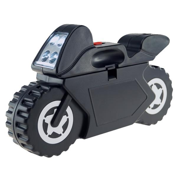 SET MULTIHERRAMIENTAS CON LAMPARA DE 4 LED  MOTO