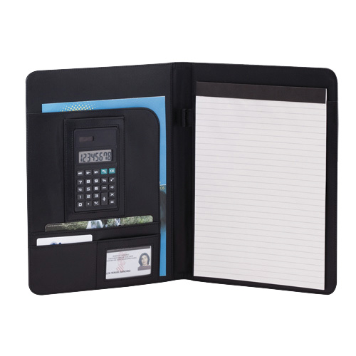Carpeta UNIMAX Microfibra/ Polipiel Bloc 20 Hojas. Calculadora Incluida