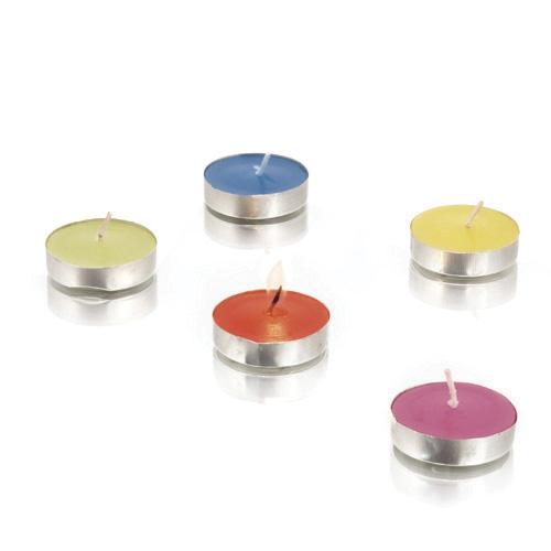 Set Velas CERUM Aroma Vainilla. 10 Piezas. 5 Colores