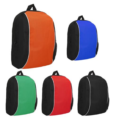 BERAKA Mochila tipo back pack con bolsa principal, bolsa lateral de red, asa superior y correas ajustables. MEDIDA: 25.0 x 43.0 cm. MATERIAL: POLIESTER