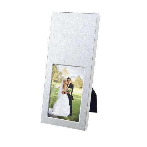 Porta-retrato Suite con 2 Posiciones: horizontal y vertical. Taman de la foto 5 x  7.5 cm. Medidas: 6.5 x 14.8 cm