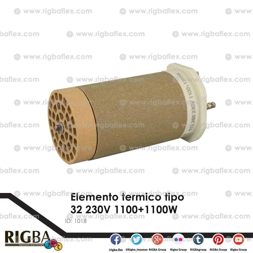 Elemento termico tipo 32 230V 1100+1100W