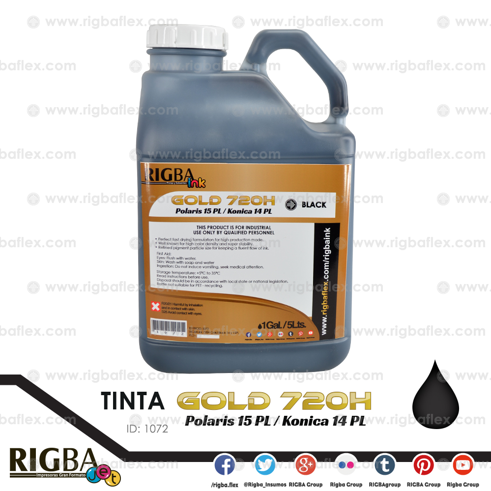RIGBA ink 720H Gold Black 14 y 15PL  GAL