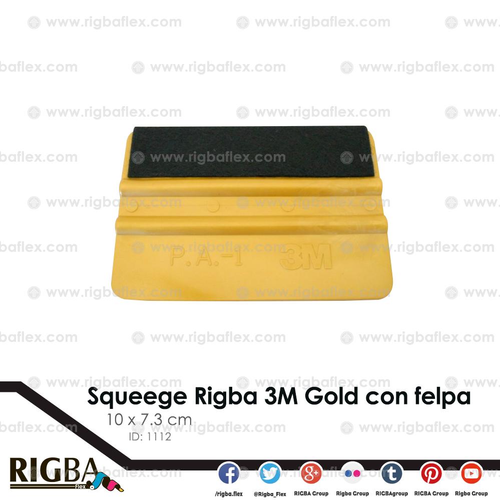 Squeege Rigba 3M Gold con felpa 10 x 7.3 cm