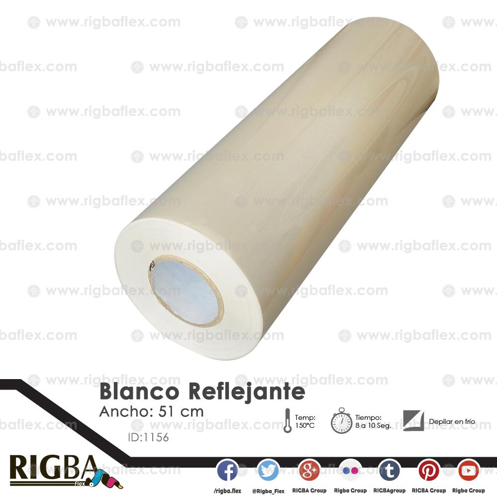 Vinil Textil de Detalle Blanco Reflejante .51m x 25m