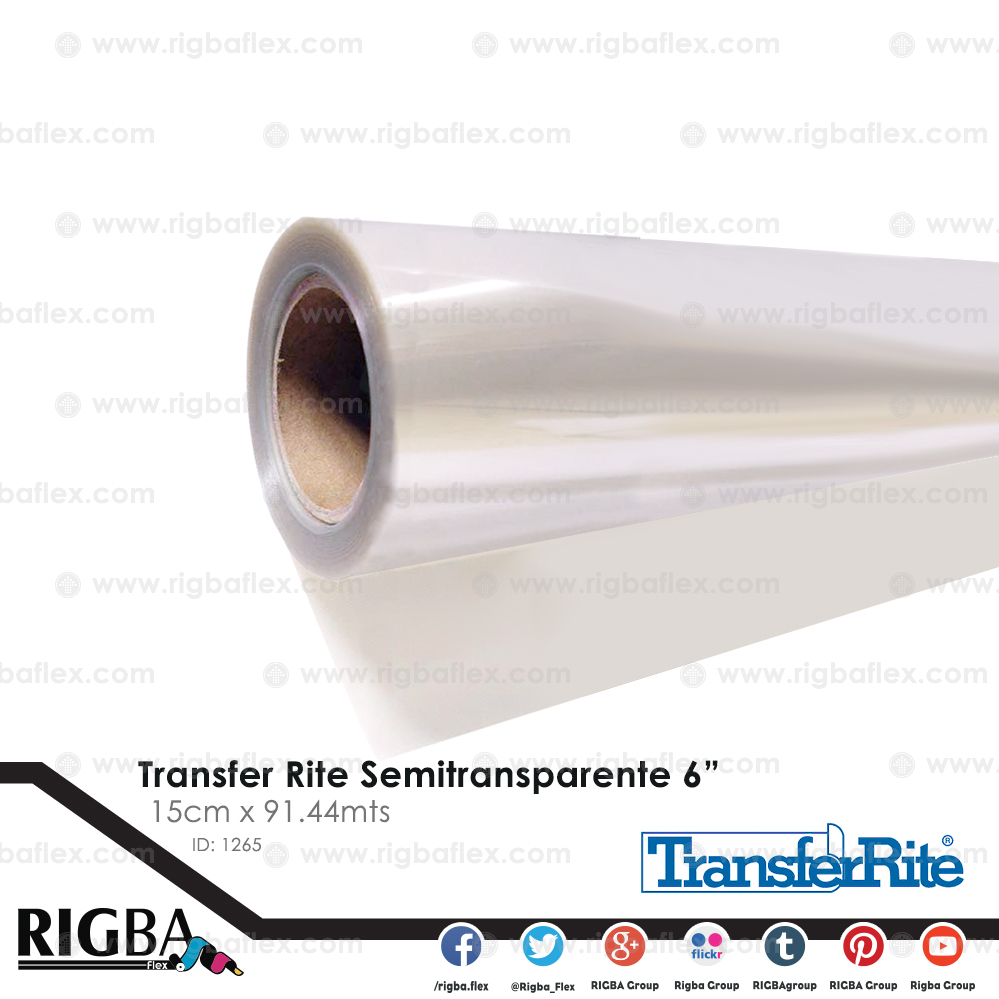 Papel transfer semitransparente 6 Pulg