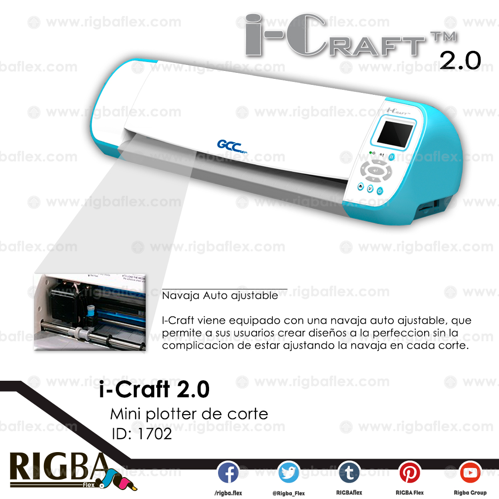 i-Craft 30 cm 2.0 GCC Cutting Plotter Blue