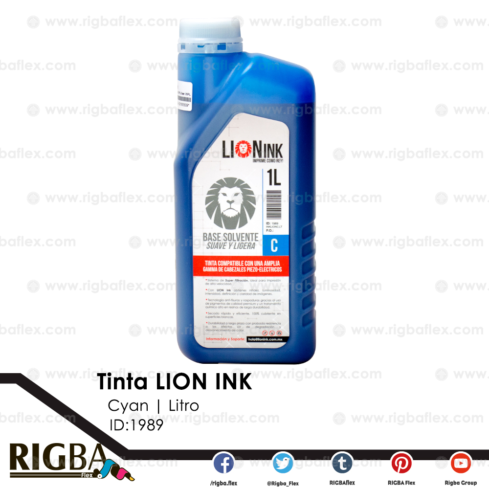 RIGBA Lion Ink Cyan Litro