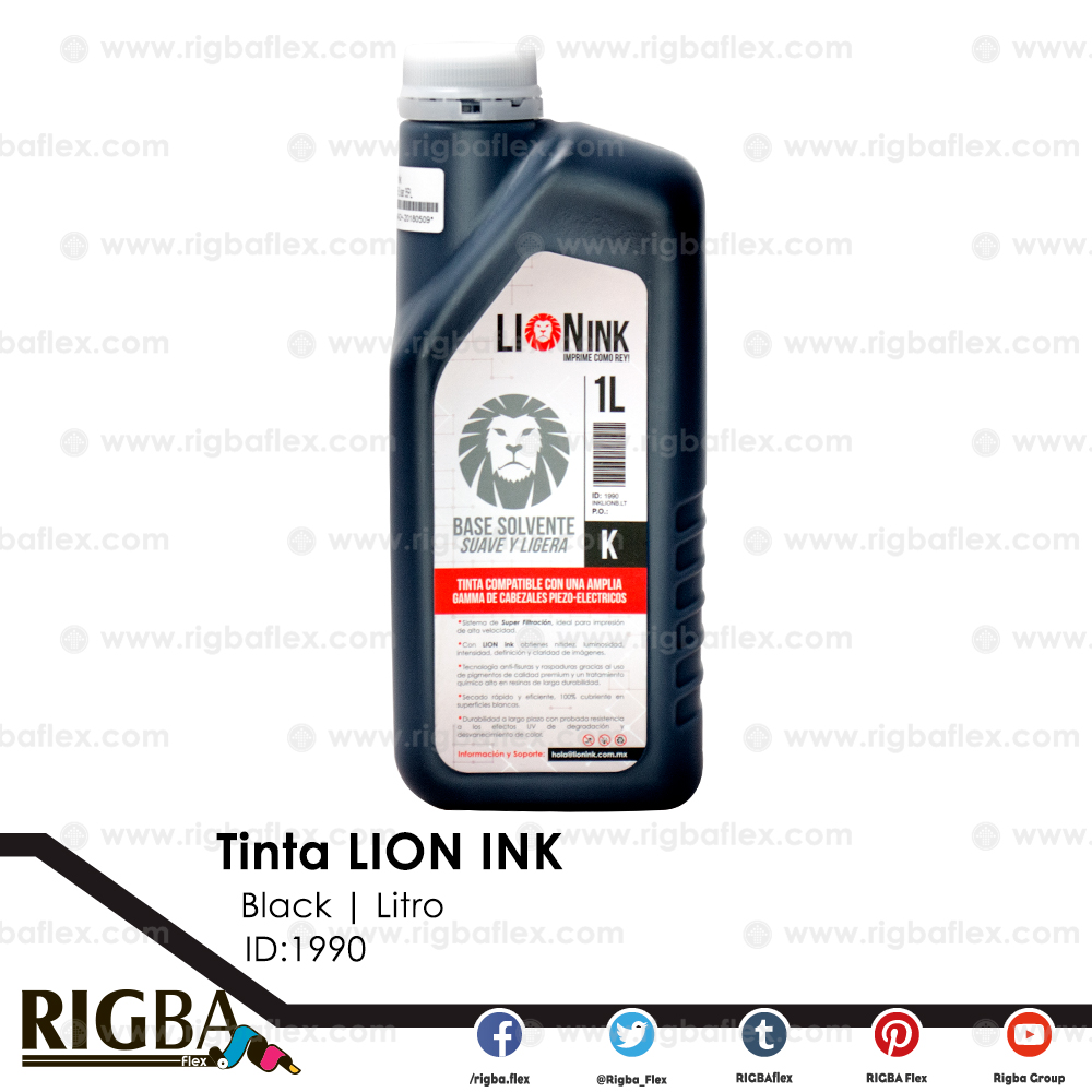 RIGBA Lion Ink Black Llitro