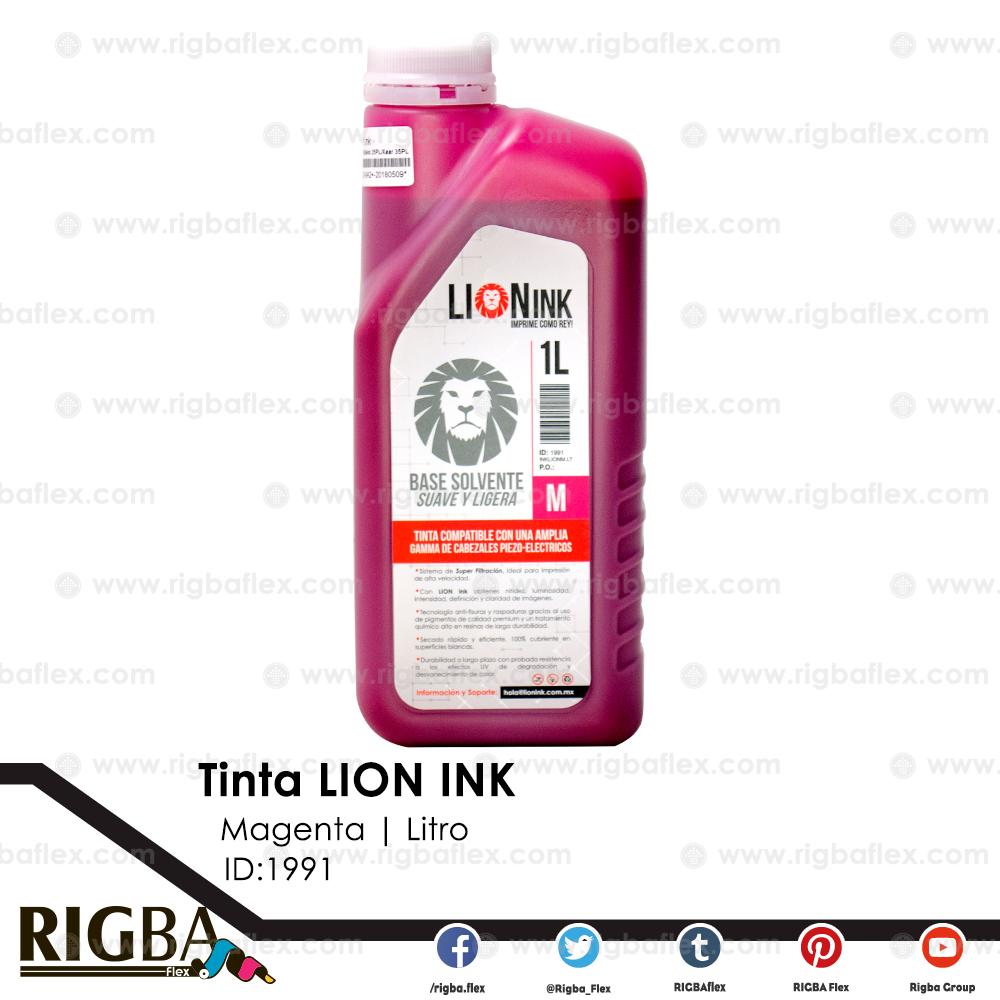RIGBA Lion Ink Magenta Litro