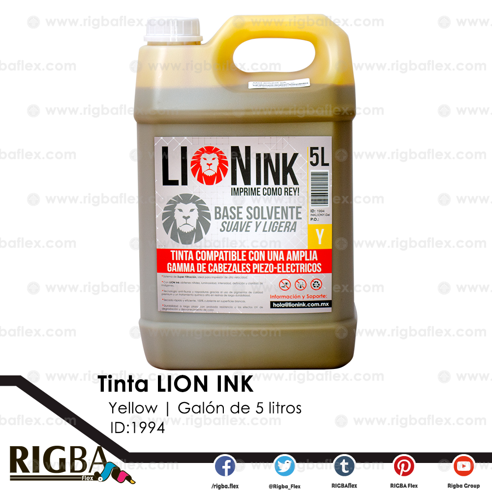 RIGBA Lion Ink Yellow Galon