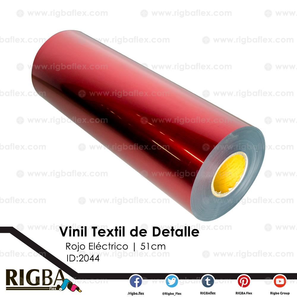 Vinil Textil de Detalle Rojo  Electrico .51m x 100m