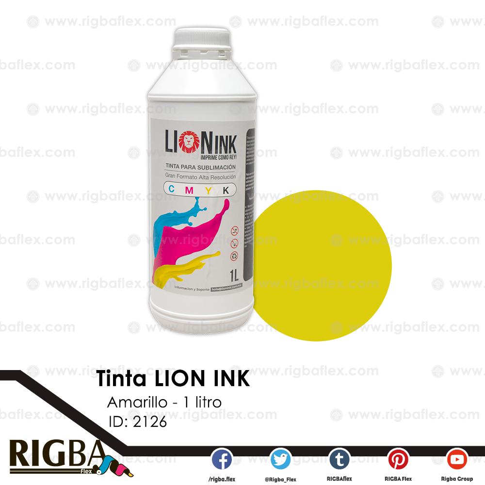 Tinta para sublimacion de Gran Formato Lion Ink Amarilla 1lt
