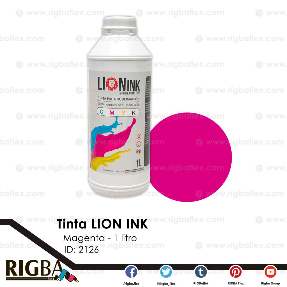 Tinta para sublimacion de Gran Formato Lion Ink Magenta 1lt