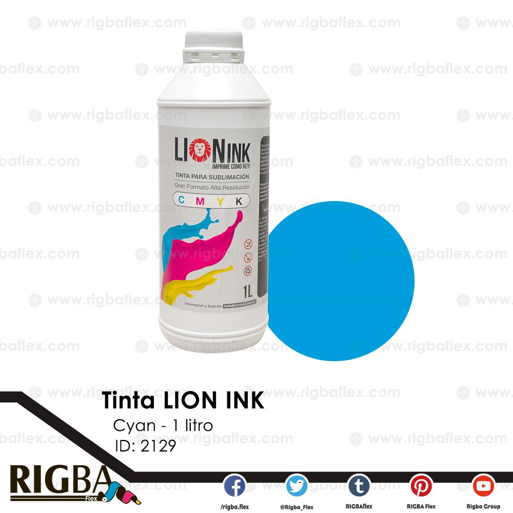Tinta para sublimacion de Gran Formato Lion Ink Cyan 1lt