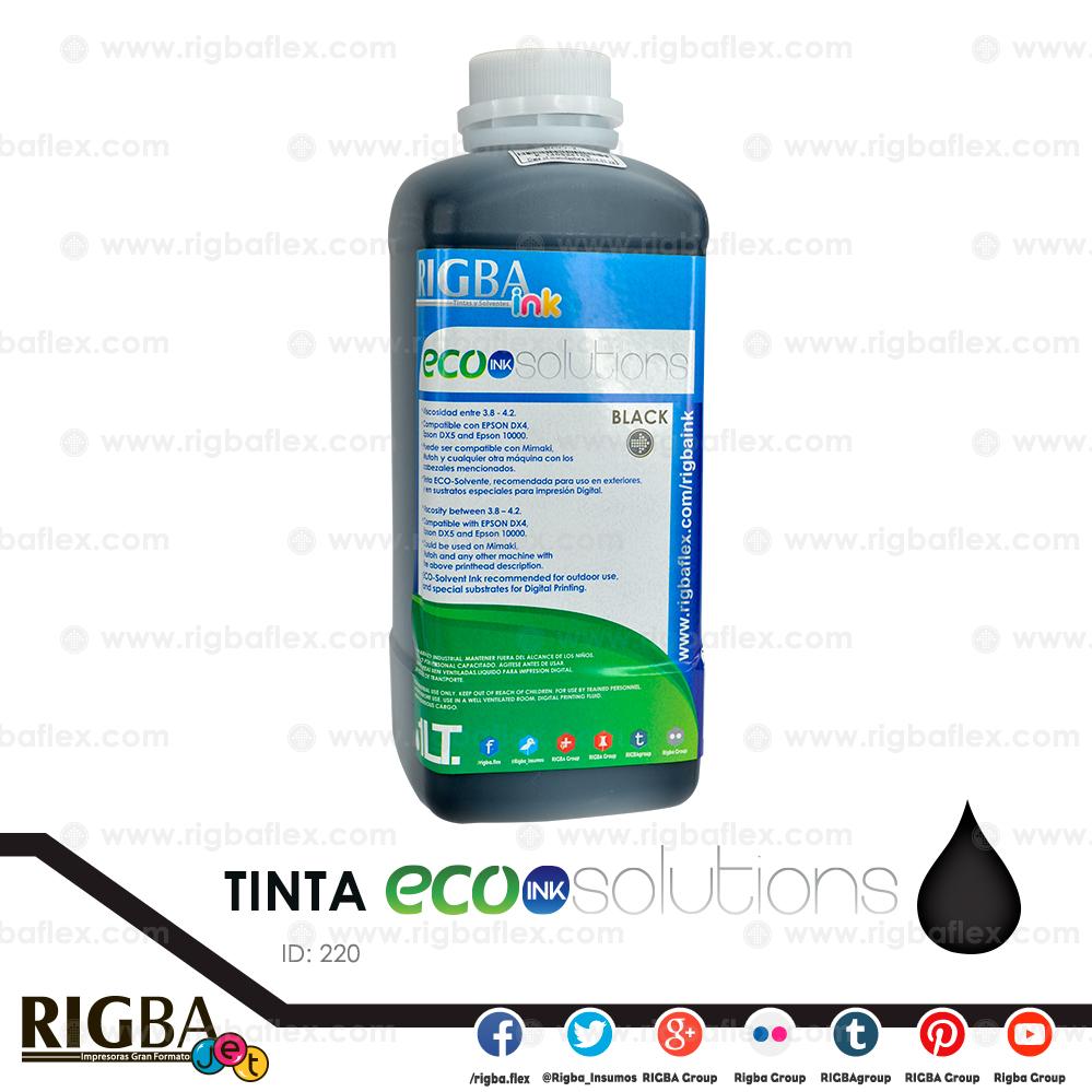 Tinta ECO Solvente negro DX4, 5, 6, 7_alta res LT
