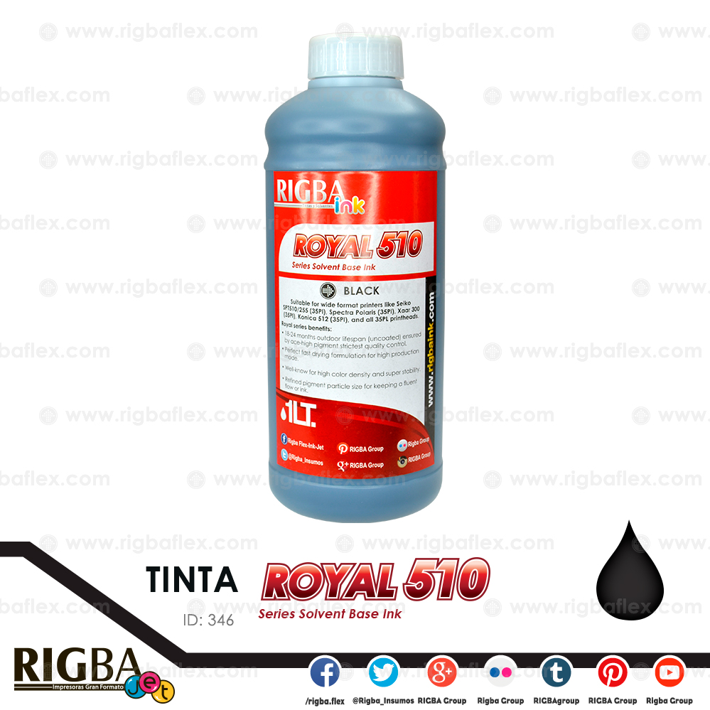 RIGBA ink Royal 510 Black 35pl litro