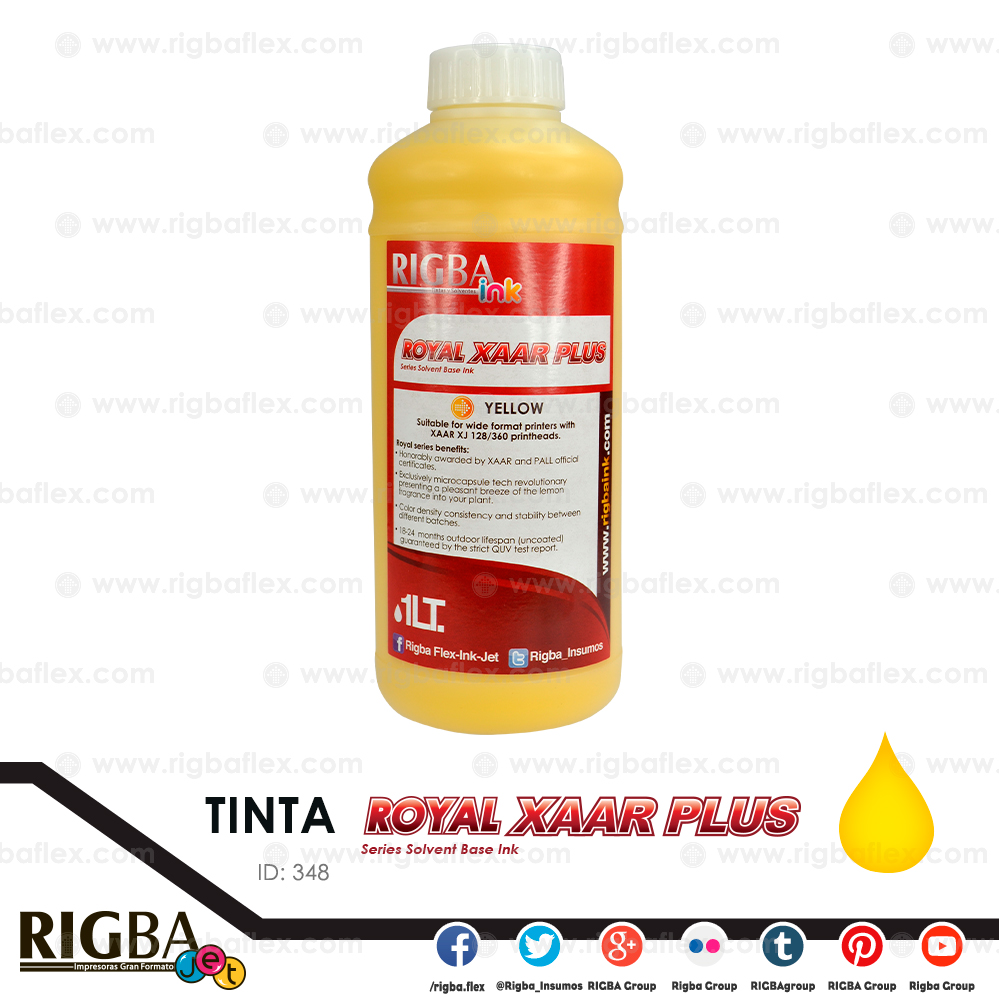 RIGBA ink Royal Xaar Yellow 40pl Litro