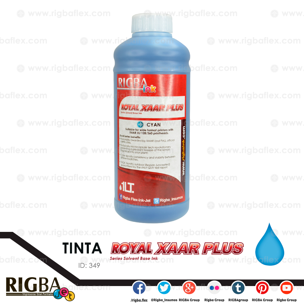RIGBA ink Royal Xaar Cyan 40pl Litro
