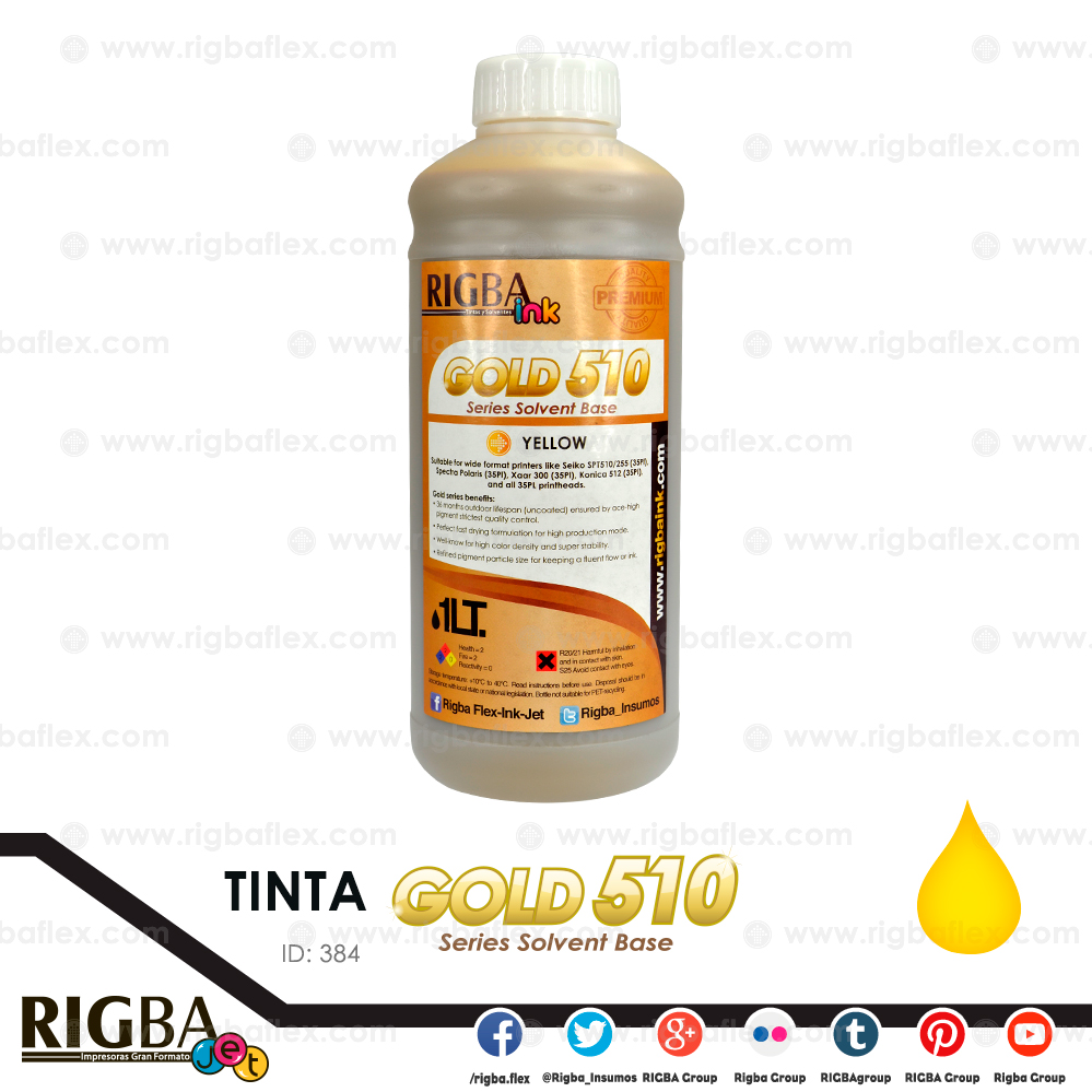 RIGBA ink Gold 510 Yellow 35PL  litro