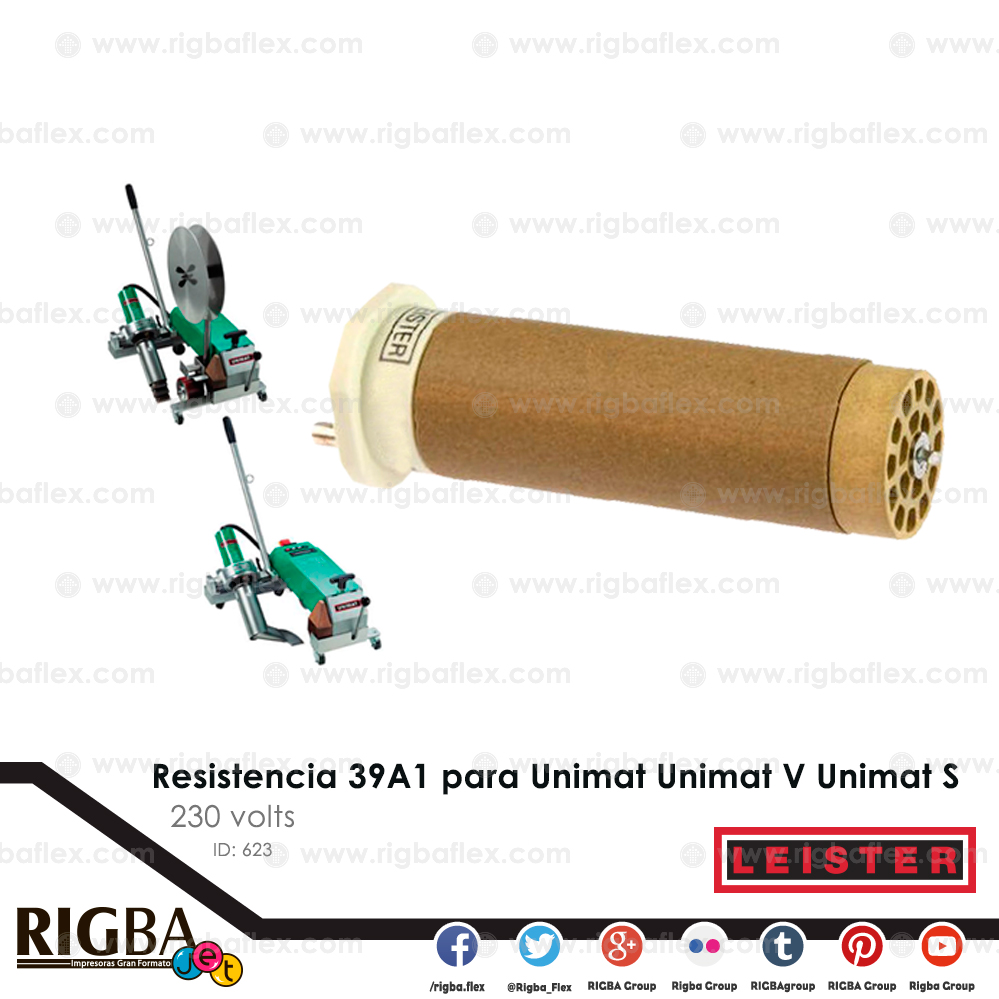Resistencia 39A1 para Unimat Unimat V Unimat S 230V 1800 1800W