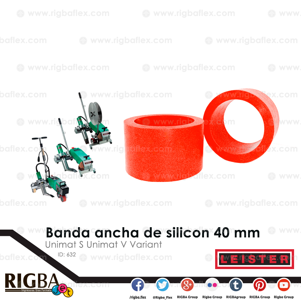 Banda ancha de silicon 40mm para Unimat S Unimat V  Variant