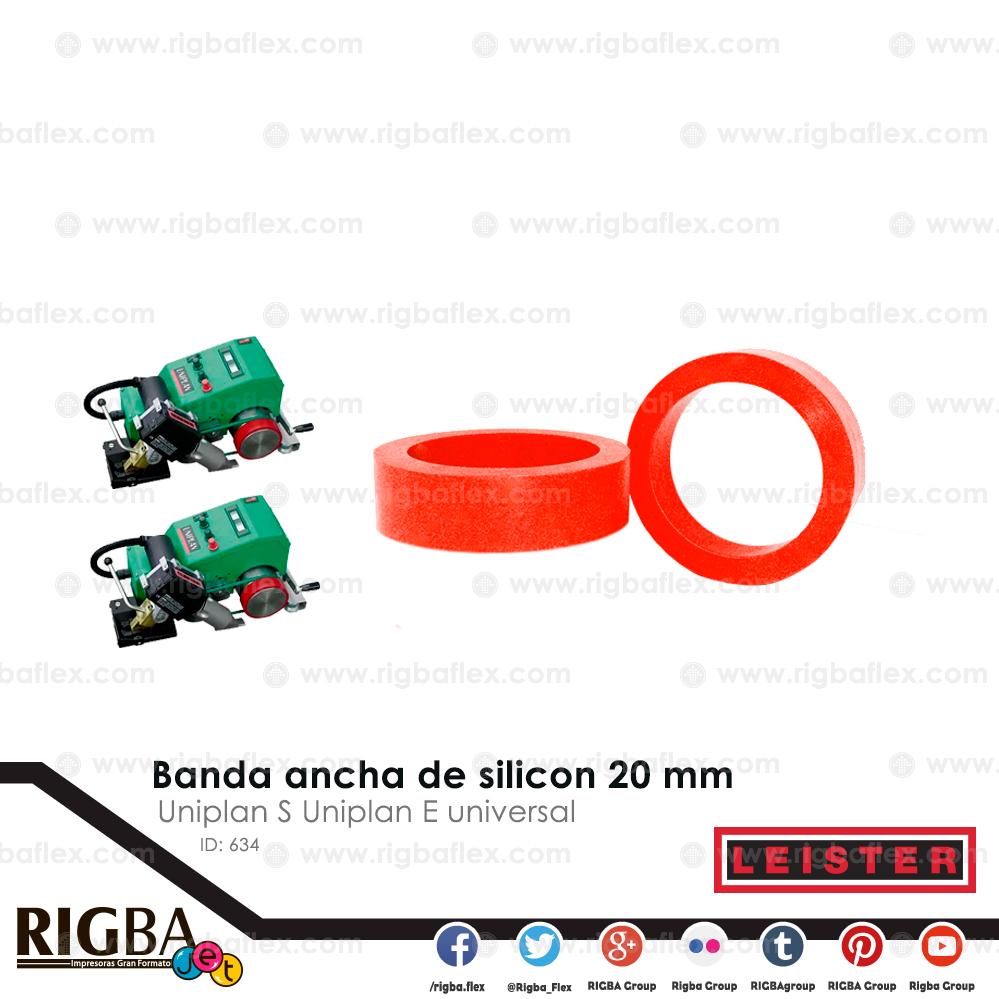 Banda ancha de silicon 20mm para Uniplan S Uniplan E universal