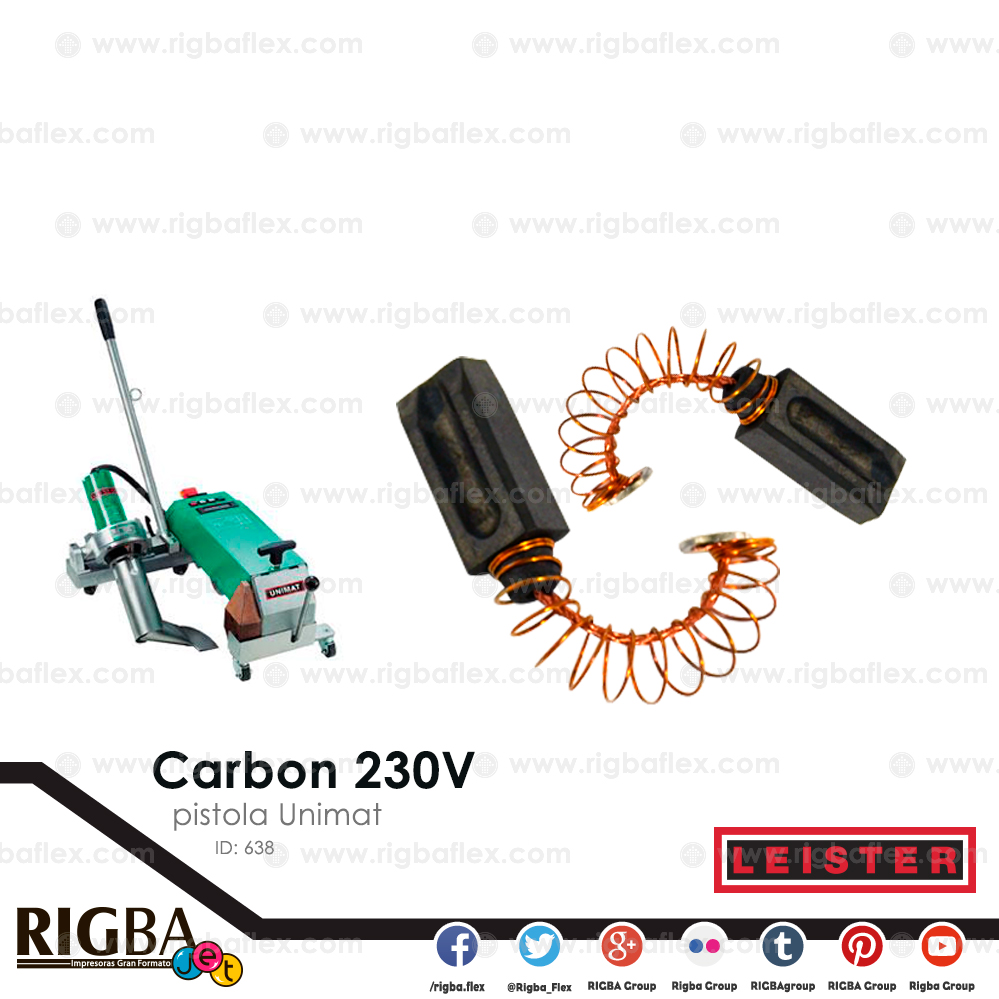 Carbon 230V para pistola Unimat pieza no par