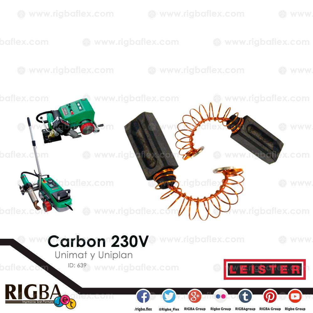Carbon 230V para transmision de unimat y uniplan  pieza no par