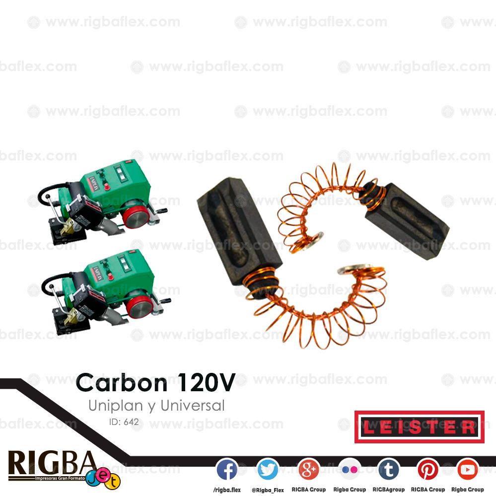 Carbon 120V  para pistola Uniplan y Universal pieza no par