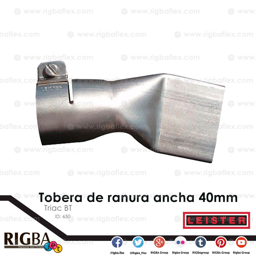 Tobera de ranura ancha 40mm para Triac BT  para lona