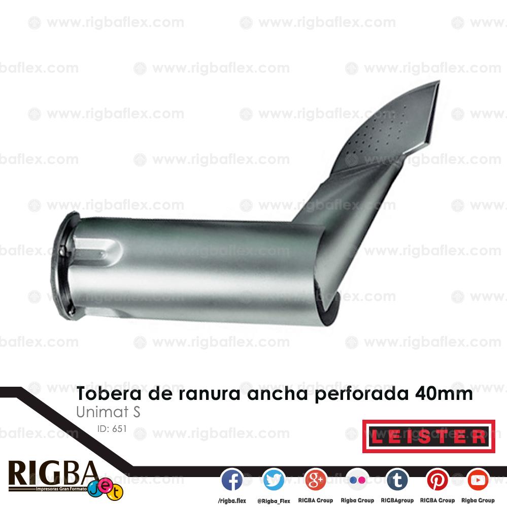 Tobera de ranura ancha  para Unimat S V 40mm perforada
